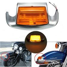 Harley Davidson Bathroom Decor by Front Fender Tip Light With Amber Light Lens For Harley Davidson