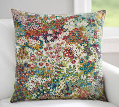 spring blossom print pillow cover pottery barn