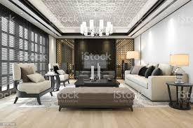 3d rendering luxus und modernes wohnzimmer mit kronleuchter stockfoto und mehr bilder architektur