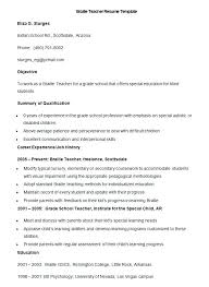 Resume Format Teacher Job Teaching Templates Doc Of