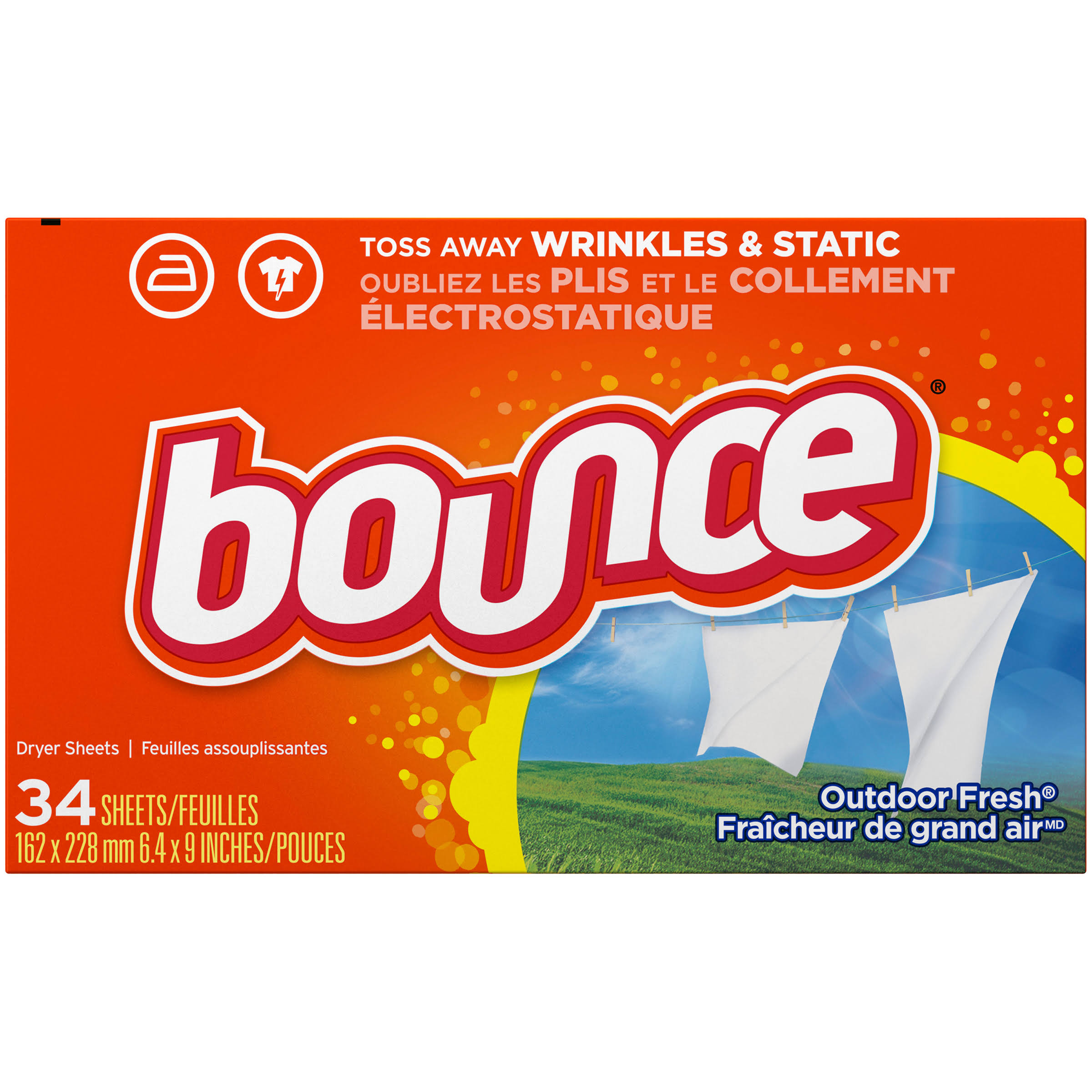 Bounce Outdoor Fabric Softener Sheets - 34ct