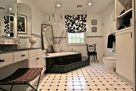 black and white floor tile patterns bathroom contemporary with