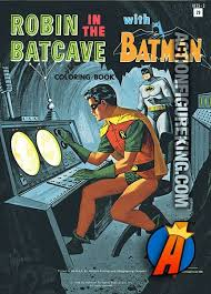 1966 Watkins Strathmore 100 Page Robin In The Batcave With Batman Coloring Book