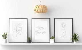 chicresult line wandbilder yourself 3er set bilder