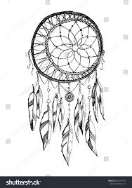 Hand Draw Rustic Dream Catcher Boho Style Vector Illustration On White Background 494198773