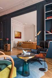 100 Interiors Online Magazine Apartment With Stained Glass Window And Unusual Wallpapers In Paris