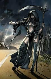 Lady Death Female Grim Reaper