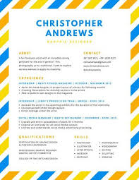 Colorful Resume Templates Blue Orange Yellow Simple By Canva