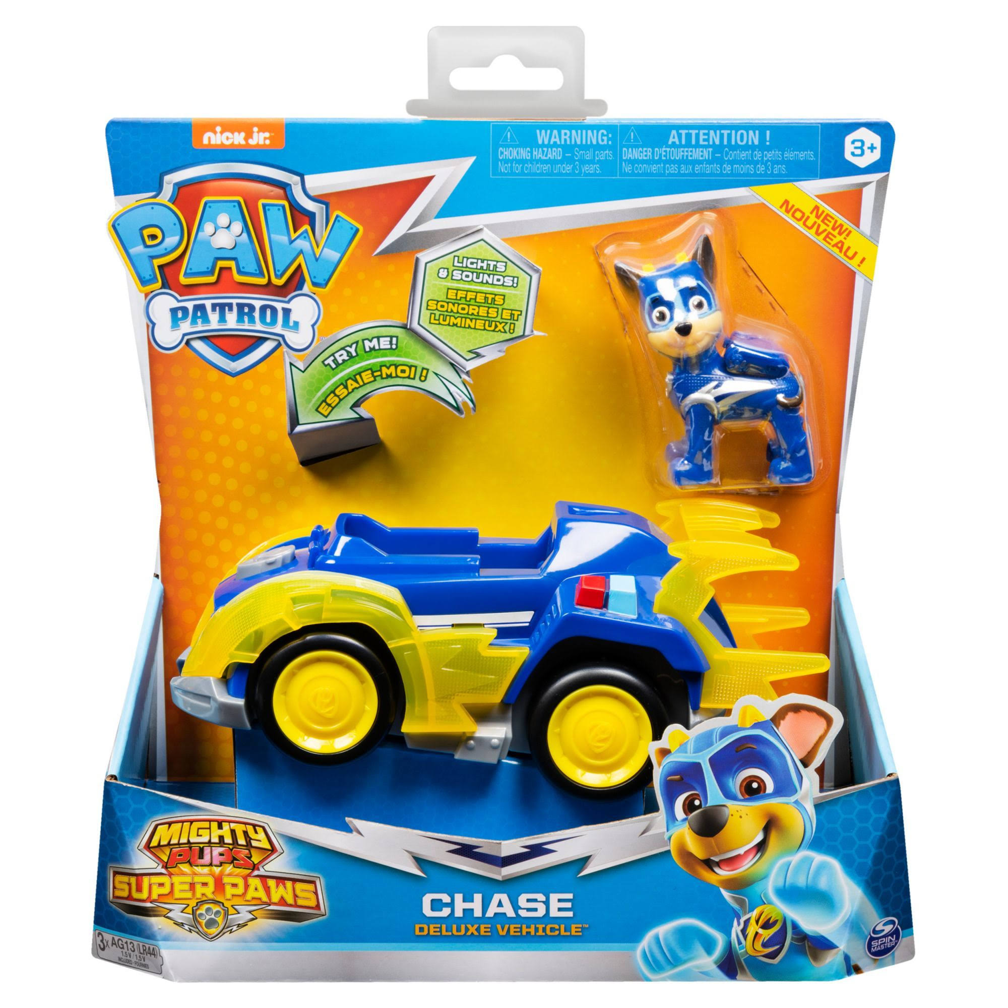 Paw Patrol Mighty Pups Super Paws Deluxe Vehicle w/ Lights and Sounds - Assorted Styles