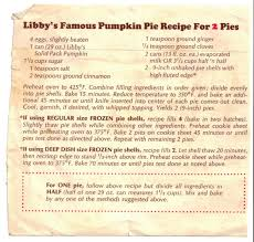 Libbys Pumpkin Bread Recipe by Libby U0027s Famous Pumpkin Pie Recipe For 2 Pies This Photo Is Taken