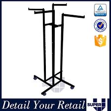Super U Retail Shop Fitting 4 Way Hanging T Shirt Metal Display Rack