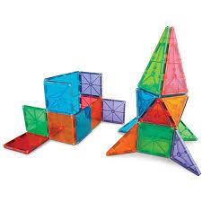 magna tiles clear colors 32 pc set smart toys