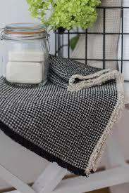 black waffle bath mat fringe linen bath mat etsy