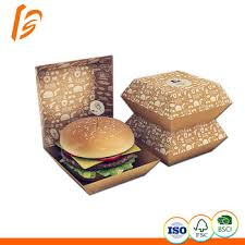 High Quality Custom Craft Burger Cake Sushi Beverages Grocery Packaging Newspaper Paper Box
