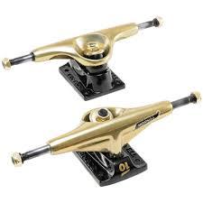 100 Skate Board Trucks Tensor Alum Lo Mini Flick Gold Board 55 Pair FAR