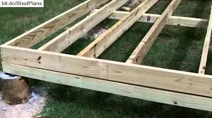 Shed Anchor Kit Bunnings by How To Build A Shed Floor Youtube