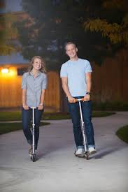 Riding Razor Scooters For The Engagements