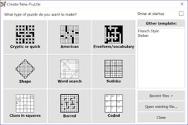 Christmas Tree Type Crossword by Crossword Compiler Features
