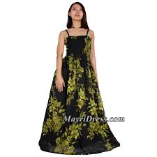 Lovely Long Dress Unique Floral Print Show Off Your Personality