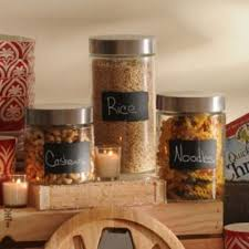 Any Easy Way To Keep Your Kitchen Organized Set Of Chalkboard Glass Jar