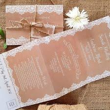 Personalised Wedding Invitations Evening Invites Kraft And Vintage Lace