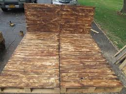 pallet platform bed with headboard pallet furniture diy