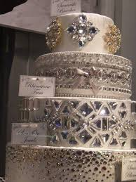Jeweled Cake Bling Wedding
