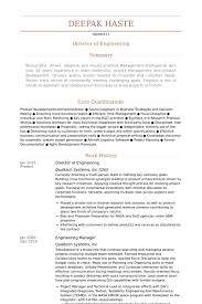 Director Of Engineering Resume Example