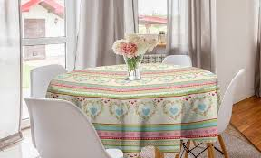 abakuhaus tischdecke kreis tischdecke abdeckung für esszimmer küche dekoration shabby chic country herzen kaufen otto
