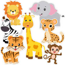 Zoo Animals Cutouts Safari Jungle CutOuts For Baby Shower Birthday Party 21 Count