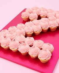 Buy Single Colour Cupcake Number Cakes At Lolas Cupcakes