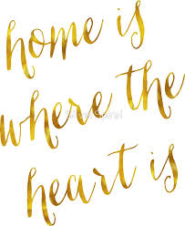 Home Is Where The Heart Quote Pleasing Gold Faux