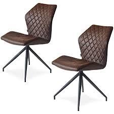mokebo drehstuhl der kuriose schwarz metall im 2er set