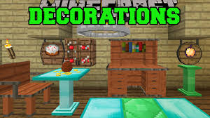 Minecraft DECORATIONS OVERLOAD CABINETS CHANDELIERS FOUNTAINS