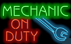 Mechanic Duty Repair Car Auto Glass Tube neon sign Handcrafted