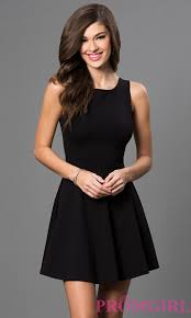 sleeveless little black dress with cut out back shorts clothes