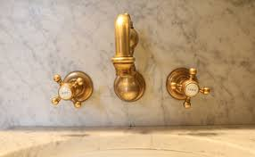 Unlacquered Brass Bathroom Faucet by Getaway The Marlton Hotel Nyc The Pursuit Of Style