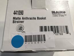 Blanco Sink Strainer Waste by Blanco 441090 Anthracite Basket Strainer And Sink Flange 3 1 2