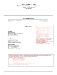 Professional Reference List Template Word Page Format Resume