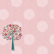 Click To See Printable Version Of Scrapbook Paper Design With A Flower Tree Craft