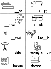 Fill In The Missing Letters Words At EnchantedLearning