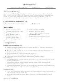 Resume Template For Project Manager Sample Certified Nurse Examples Resumes