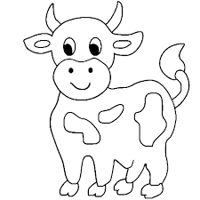 Majestic Cow Coloring Page Cute Little