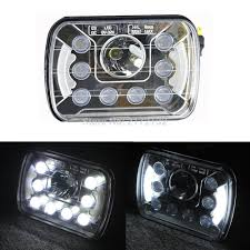 1pair 55W Sealed Beam High Low Beam LED Headlight 7x5 LED Truck ... 092014 Ford F150 Pickup Truck Black Led Tube Bar Projector Halo Headlight Accent Lights With T314 Adapter Super Bright Leds Best 5 X 7 90w Square Led Driving Lamps With Hilo Lite Heated Headlamps Youtube Lumen Sb7655hlblk 7x6 Rectangular Headlights Headlight Bulbs Forum Community Of Fans 5x7 Buy Promotion Inch For 4x6 Polycarbonate Lens Alinum Low Fxible White And Amber For Custom 2 Pcs 4x6 Inch 12v 24v Trucks Trucklite Installation Writeup A Jeep Xj Cherokee Auto Headlamp 6x7 High