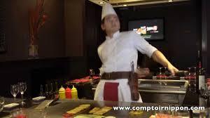 restaurant japonais chef cuisine devant vous restaurant teppanyaki le comptoir nippon