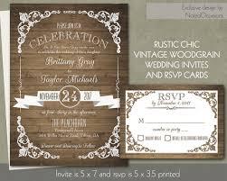 Rustic Chic Barn Wood Wedding Invitation