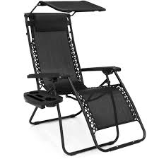 High Boy Beach Chairs With Canopy by Folding Zero Gravity Recliner Lounge Chair W Canopy Shade