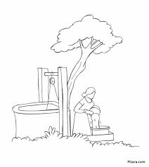 Drawing Water From Well Coloring Page