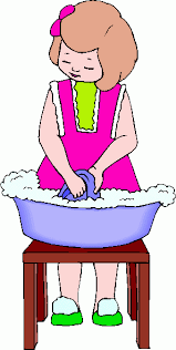 Cleaning Washing Dishes Clipart 1