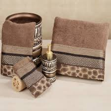safari stripes animal print bath towel set bath towel sets home